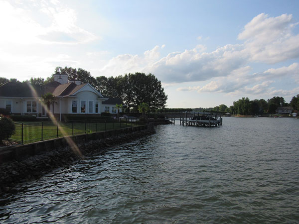 Lake norman docks and home view